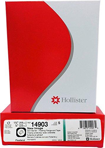 "Hollister 14903 New Image Pre-Cut Skin Barrier 1 3/4"" Flange, 7/8"" Stoma 5/BX"