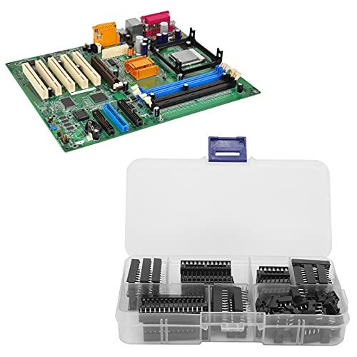 SALALIS Zócalo del Chip IC, zócalo IC del Pin Plano de 66Pcs 2.54mm para los experimentos