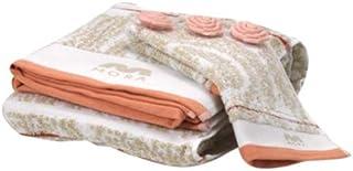 Mora Fantasia-267-02 Cotton Jacquard Hand Towel - White/beige, 2 Pieces