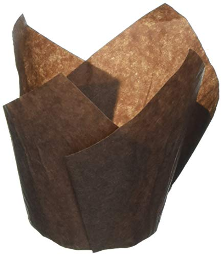 Royal RPTM-50B Brown Tulip Style Baking Cups