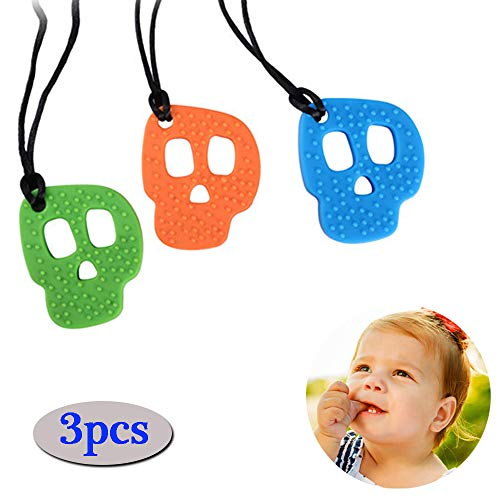 Kauw halsketting, Tough Sensory Chewy Tool Silicone Chewy Stick Hanger Chewable Jewelry Toy Perfect voor autistische