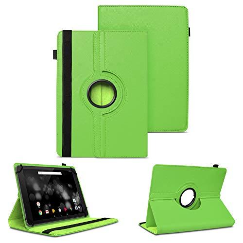 NAUC Tablet Schutzhülle für TrekStor Primetab P10 Hülle Tasche Standfunktion 360° Drehbar Cover Hülle Universal Schutzhülle, Farben:Grün