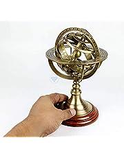 Malla Inc. - Reloj esférico de latón con esfera armillar, 15,24 cm, diseño de brújula