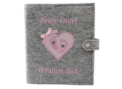 Taufbuch, Taufalbum DIN A5 Mädchen Babyfüsschen mit schönem Spruch, Geschenk zur Taufe, Taufgeschenk, mit 36 Innenseiten zum Ausfüllen