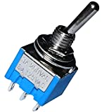 AERZETIX: Interruptor conmutador de palanca DP3T ON-OFF-ON 3A/250V, 3 posiciones C10715...
