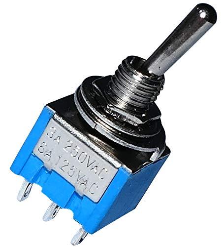 AERZETIX: Interruptor conmutador de palanca DP3T ON-OFF-ON 3A/250V, 3 posiciones C10715
