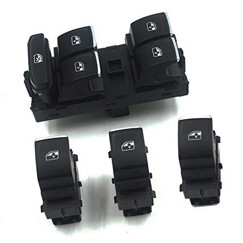 Interruptor del elevalunas eléctrico del botón de control / ajuste for el Volkswagen Golf 7 / ajuste for Passat B8 / ajuste for Tiguan / Touran en forma for el 2014 2015 2016 OE: 5G0959857A 5G0959855
