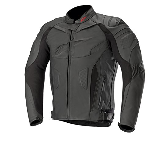 Alpinestars GP Plus R V2 - Chaqueta de piel para moto, color negro/blanco/amarillo, 50 EU 52 EU Nero/Bianco/Rosso