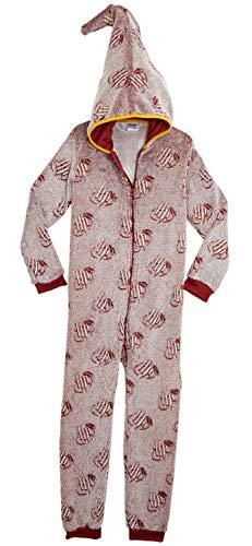 HARRY POTTER Pijamas de Una Pieza Que Brillan En La Oscuridad,Mono Infantil Entero Extra Suave con Capucha de Mago, Disfraz Ropa Invierno Niño,Regalos Originales Niña Niño (9 10 años)