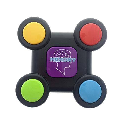 Simon Memory Spiel Maschine Kinder Lernspielzeug Mit Licht & Sound, Elektronisches Merkspiel Handkonsolen Interaktives Spielzeug Für Training Hand Gehirn Koordination (Runden)
