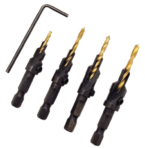 Milescraft 5341 4 pc. CounterBitSet - Countersink Drill Bit Set #6, 8, 10, 12