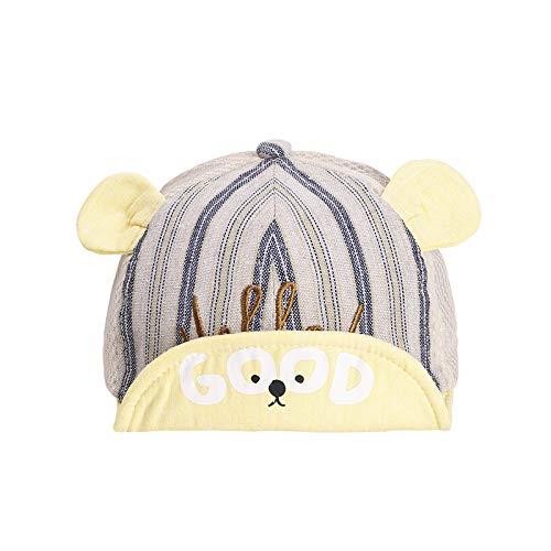 wopiaol Children's hats spring and summer new Korean version of pure cotton letter bear net cap sunscreen baby cap