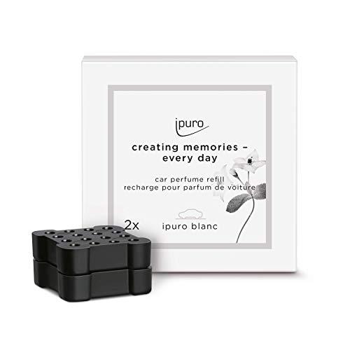 ipuro Autoduft blanc - Hochwertiger Duft für Ihr Auto - Aroma mit frischer und reiner Wirkung (Sommerregen) - Kompatibel mit dem ipuro Car Clip - Automatische Verteilung durch die Lüftung