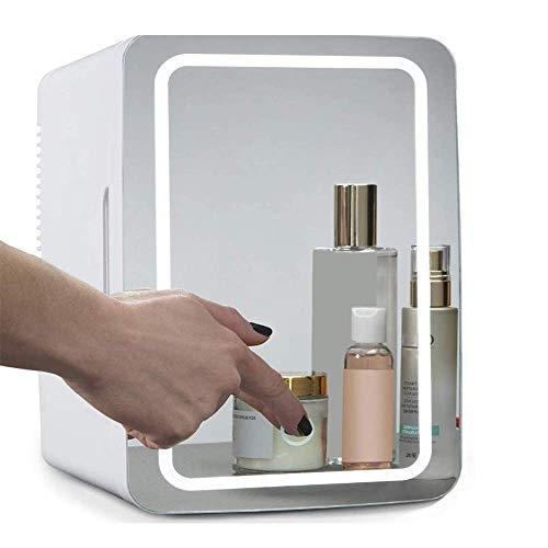 Flawless Beauty Mini Frigo / cosmetico portatile Frigorifero, vetro pannello + illuminazione a LED, con regolazione calda e fredda, usata for il trucco e cura della pelle, può anche essere utilizzato