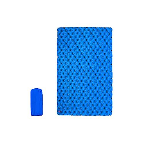 HMSLINCK Doppio Cuscino Da Campeggio - Ultra Leggero Gonfiabile - Portatile E Comodo Per La Tenda, Le Escursioni E Il Trekking (200cm X 120cm) - Blu-2