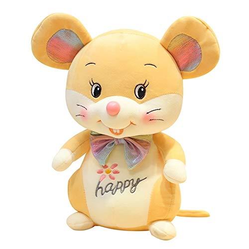 HUOQILIN Maus Plüsch PP Baumwolle Gefüllt Kissenkissengeschenk Maskottchen (Color : Yellow, Size : 30cm)