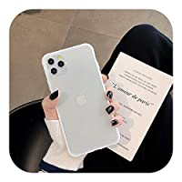 Zwppg iPhone 12 11 Pro Max XR XS Max 8 7 6 6S Plus SE2020耐衝撃性バンパーマット透明電話ケース、ハードPCシリコンケース付き-T3-For iPhone 11 Pro
