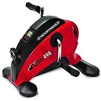 Jk Fitness MF498, Mini Bicicleta eléctrica Unisex–Adulto, Rojo/Negro, 40x 39x 29cm
