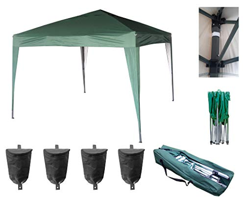 MCC - 3x3m Pop-up Gazebo Waterproof Outdoor Garden Marquee Canopy (Green) (NS)