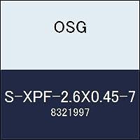 OSG ハイス溝ナシタップ S-XPF-2.6X0.45-7 商品番号 8321997