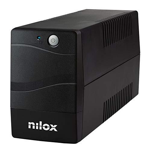 Nilox, UPS Premium Line Interactive da 800VA, Stabilizzatore di Tensione Tramite AVR, Protegge Computer e Periferiche dai Blackout e Disturbi della Rete Elettrica, con Tecnologia Line Interactive