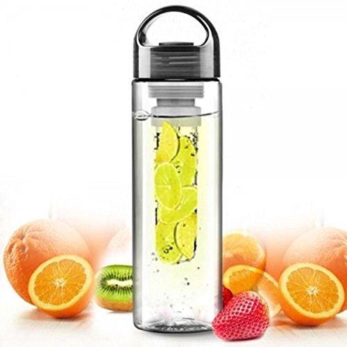 Fruit Infuser BPA Free Water Bottle - Create Your Own Naturally Flavored Fruit Infused Water, Juice, Iced Tea, Lemonade (Random Color)
