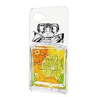 スマホケース ハードケース AQUOS SERIE mini (SHV33) 用 香水ボトル・レモン リボン perfume コスメ フェイクデザイン SHARP シャープ アクオス セリエ ミニ au スマホカバー 携帯ケース 携帯カバー perfume_00l_h112@01
