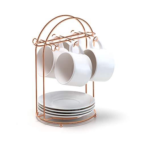 Porta Xícaras de Chá, L. 16 x A 26.5cm, Rosé Gold, Arthi