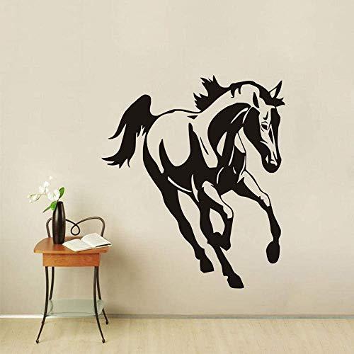 Muursticker Running Horse Vinyl Muursticker Woonkamer Zelfklevende Verwijderbare Moderne Muurdecoratie Behang Huisdecoratie 50 * 43Cm
