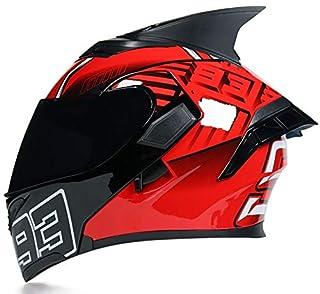 Motocross Helmet,Motocross Helmets Full Face Flip Up Helmet, with Double Visor Helmets for Adults,M