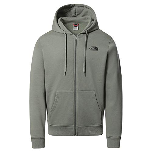 The North Face Felpa con Cappuccio e Stampa Grafica Uomo Flow, Agave Green, L