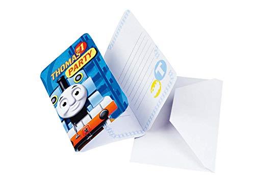 amscan 552164 Einladungskarten mit 6 Umschlägen Thomas und Friends