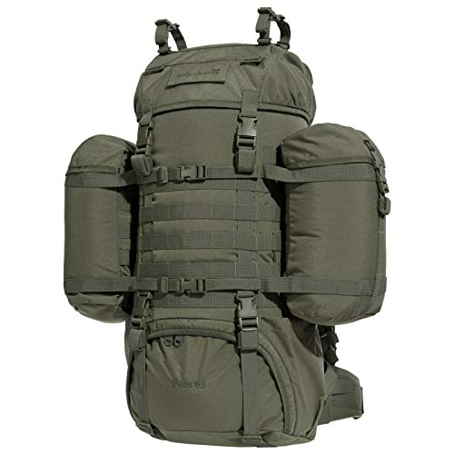 PENTAGON Deos RAL7013 - Mochila militar para camping, senderismo, 65 litros