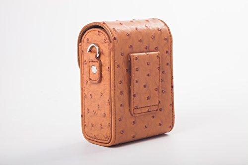 vhbw Universal Tasche Gürteltasche braun passend für Kamera Panasonic Lumix DMC-TZ10, DMC-TZ18, DMC-TZ22, DMC-TZ25, DMC-TZ31.
