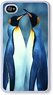 iPhone 4s Case AOFFLY Two Penguins Kissing White PC Hard Case For Apple iPhone 4S,iPhone 4