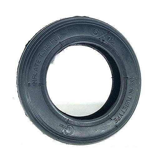 KTDT Neumáticos de Scooter eléctrico, neumáticos sólidos a Prueba de explosiones de 6 Pulgadas, neumáticos inflables Interiores y Exteriores de 6x1 1/4, adecuados para el reemplazo de neumáticos