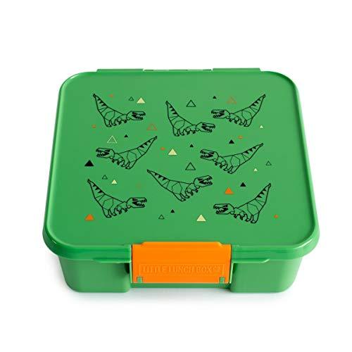 Little Lunch Box Co., Brotdose für Kinder mit Unterteilungen | Bento Box (Bento 5 - T-Rex)