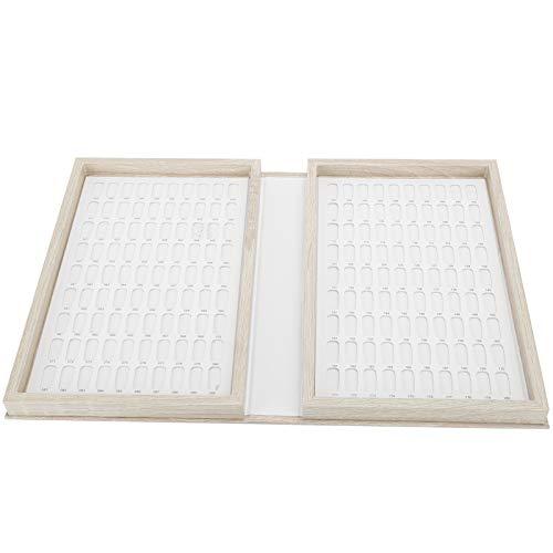 Libro de exhibición de esmalte de gel para uñas de madera Color de uñas que muestra el estante Tarjeta de colores para decoración de uñas 180 colores para bricolaje de(Light color)
