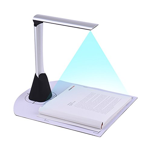 Aibecy Document Camera Scanner 5 Mega-pixel HD A4 Dimensione di Scansione con Funzione LED Luce per Office Book Immagine