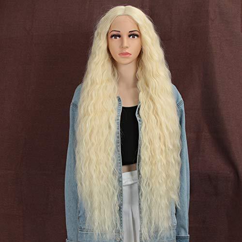 Style Icon Lace Front Perücken Wigs 100cm Lang Wellige Synthetische Perücken Für Frauen Tief mittel Teil Hitzebeständige Fasern Spitze Front