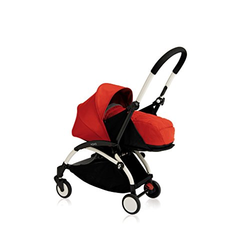 Learn More About Babyzen YOYO+ Newborn Stroller Bundle - White Frame plus 0+ Newborn Color Pack (Red...