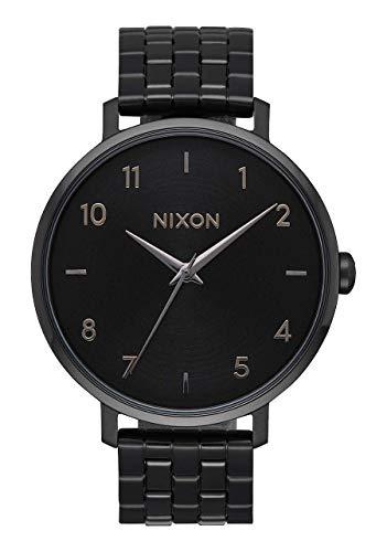 Nixon Women's Arrow Quartz Watch with Stainless-Steel Strap, Black, 17 (Model: A1090001-00)