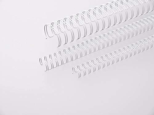 Renz One Pitch Drahtkamm-Bindeelemente in 2:1 Teilung, 23 Schlaufen, Durchmesser 19.0 mm, 3/4 Zoll, weiß