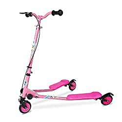 top rated AODI Height Adjustable Children's Folding Scooter, Speeder, Scooter, Scooter, Drift. 2021