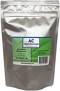 Zinc Sulfate Monohydrate - 35.5% Zn - 99% Pure - 1 Pound