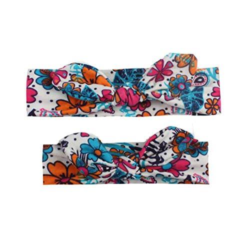 Chiyee Haarband voor babymeisjes en moeders, 2 stuks, voor kleine kinderen