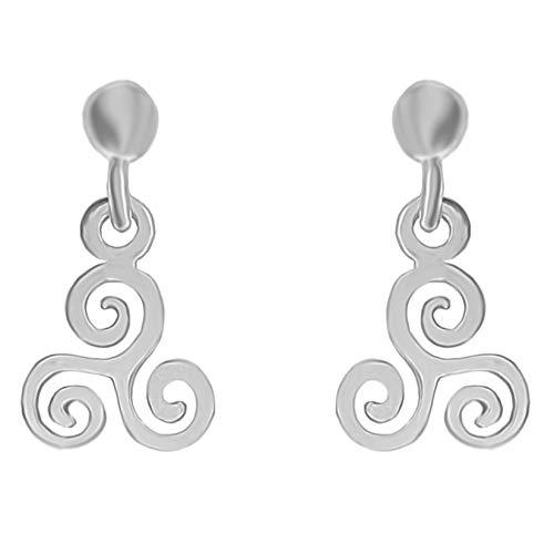 Pendientes Triskel de plata 925 para mujer