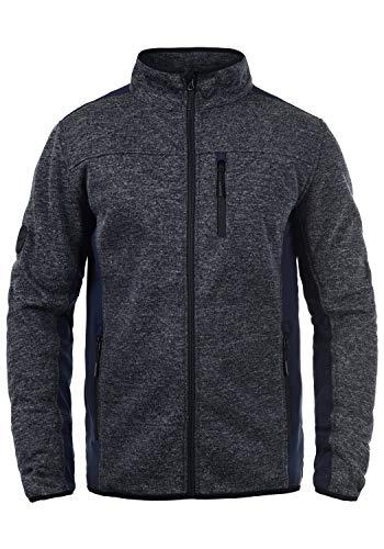 Indicode Esher Herren Softshell Jacke Funktionsjacke Übergangsjacke Mit Stehkragen, Größe:XXL, Farbe:Navy (400)