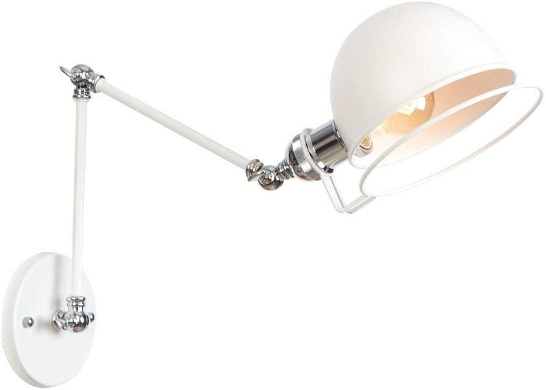 FAJZF Wandlampe mit Flügelarm 1 Head Adjustable Faltwand-Lampenbeleuchtung für Schlafsle Hallway Cafe Bar Dining Room 30+30CM