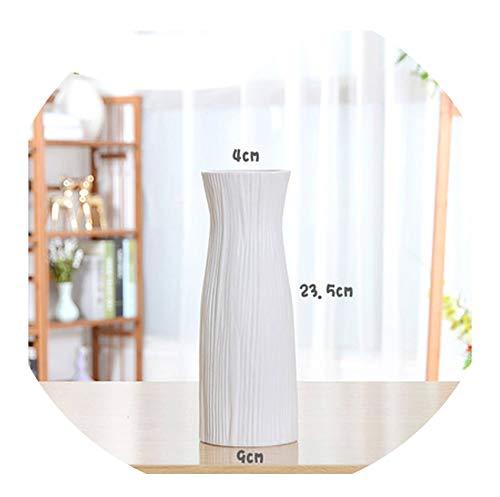 hotmoment-uk-vases, klassisch, weiß, Tisch-Vase, einfache Bodenvase, chinesische Handwerks-Dekoration, kreatives Geschenk, Heimdekoration, B208